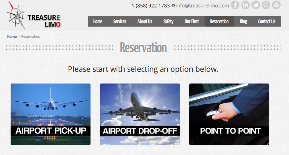 Treasure Transportation LLC Makes Airport Transportation Reservations Easy in 5 Simple Steps